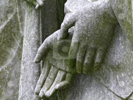 Hands stock photo, Hands of a cemetery statue in Limburg, Germany. by Birgit Reitz-Hofmann