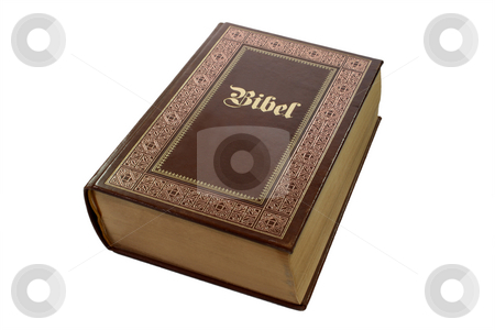 Bibel stock photo, Bibel isolated on white. Shot in Studio by Birgit Reitz-Hofmann