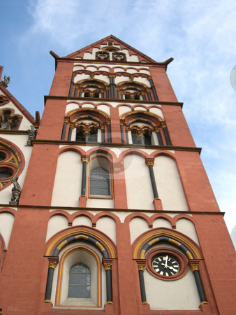 Dome stock photo, A view with an old catholic church in germany by Birgit Reitz-Hofmann