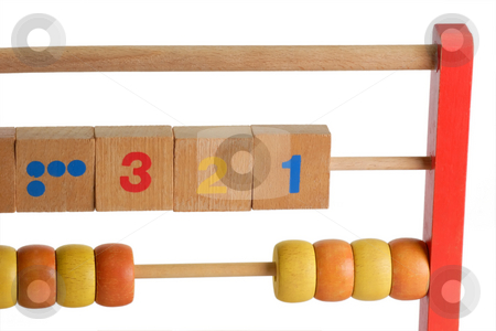 Abacus stock photo, Wooden abacus isdolated on white background by Birgit Reitz-Hofmann