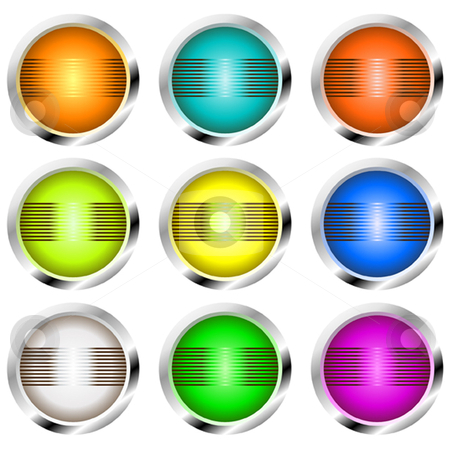 Retro Buttons stock vector clipart, Retro style buttons or globes for design by Ira J Lyles Jr