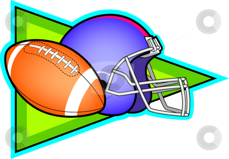 Football stock vector clipart, A vector illustration depicting football. by Erasmo Hernandez