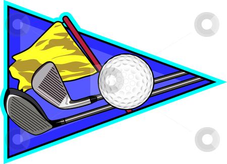 Golf stock vector clipart, A digital illustration depicting the sport of golf. by Erasmo Hernandez