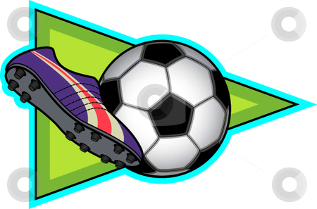 Soccer stock vector clipart, A vector illustration depicting the sport of soccer. by Erasmo Hernandez