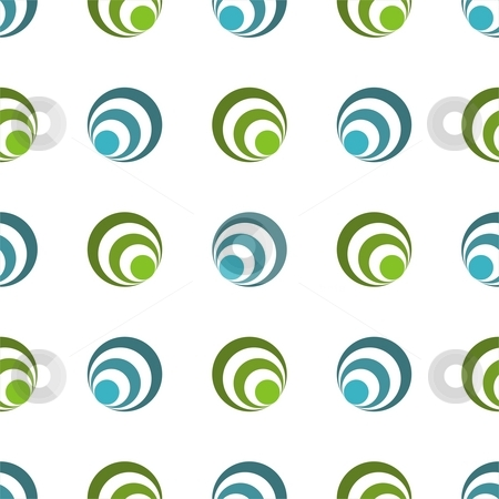 Seamless texture stock photo, Seamless texture - blue and green abstract circular shapes by Mihai Zaharia