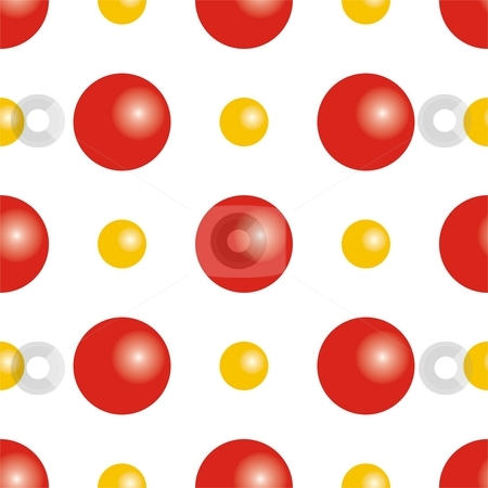 Seamless texture stock photo, Seamless texture - red and yellow balls by Mihai Zaharia