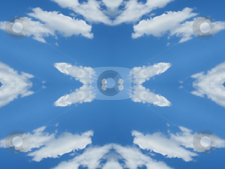 Mirrored Clouds (Background Pattern) stock photo, Mirrored Clouds - Background Pattern by Dazz Lee Photography