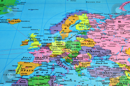 Europe map stock photo, Colorful map of Europe by Fernando Barozza