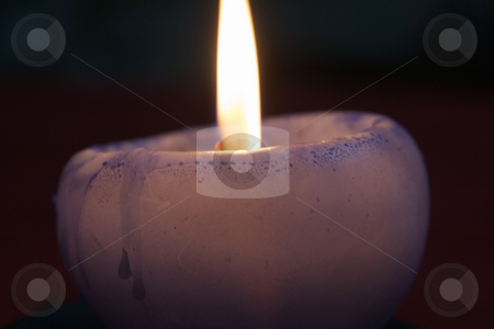 Christmas candle stock photo, Christmas, color, colorful, colour, colourful, dark, decoration, holidays, home, candle, light, winter, flame, violet, wax by Creative Shield