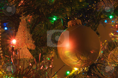 Tree ball stock photo, Christmas, color, colorful, colour, colourful, dark, decoration, holidays, home, Led, light, winter, ball by Creative Shield