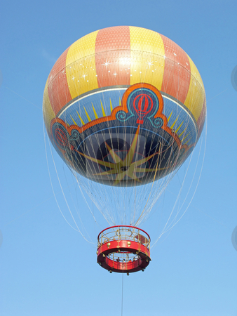 Hot Air Balloon stock photo, A Hot Air Balloon up in the sky by Lucy Clark