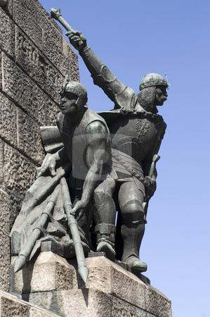 Grunwald monument stock photo, Grunwald monument in Plac Matejki, Krakow, Poland by Stephen Sienczyk