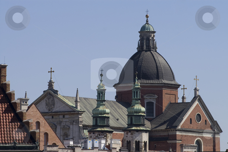 Churches and crosses stock photo, View over Krakow churches by Stephen Sienczyk