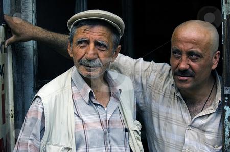 Turkish men stock photo, Portrait of two turkish men by Kobby Dagan