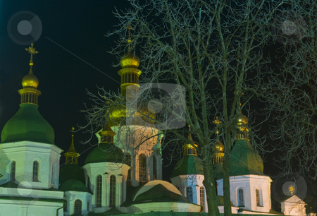 St. Sofia Cathedral stock photo, St. Sofia Cathedral at night in Kiev the capital of Ukraine by Kobby Dagan