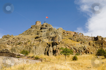 The fortress stock photo, Fortress in turkish town at east turkey by Kobby Dagan