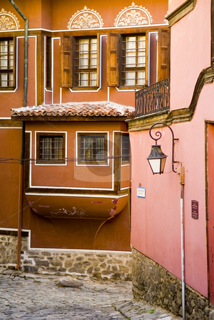 Bulgarian house stock photo, House in the old city og Plodiv in Bulgaria by Kobby Dagan