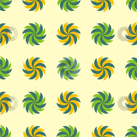 Seamless texture stock photo, Seamless texture - a pattern of spiral vegetal green and yellow elements repeating seamlessly by Mihai Zaharia