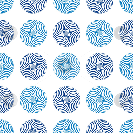 Seamless texture stock photo, Seamless texture - a pattern of blue abstract rotating elements repeating seamlessly by Mihai Zaharia