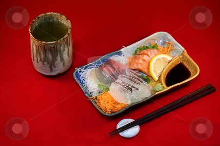Japanese Sashimi 3 stock photo,  by Tomo Photography