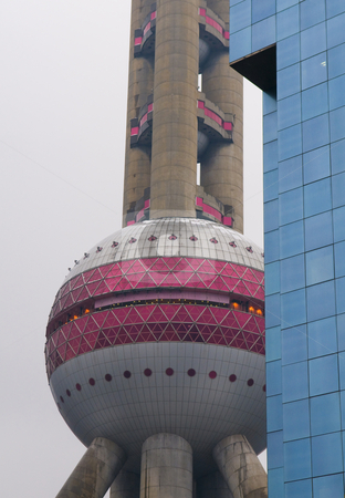 Pearl t.v tower stock photo, The oriental pearl t.v tower in Shanghai China by Kobby Dagan