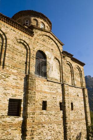 Bulgarian monastery stock photo, Monastery in the Rodopy mountains in bulgaria by Kobby Dagan