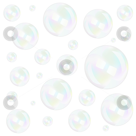 Bubbles stock vector clipart, Bubbles background over white, vector illustration by Laurent Renault