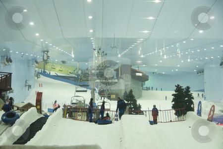 Indoor Skiing Dubai stock photo,  by Didier Tais