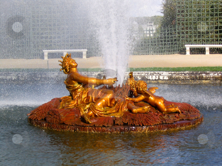 Versailles fountain stock photo, Fountain in the garden of Versailles by Jaime Pharr
