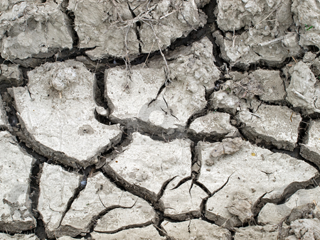 Dryness stock photo, Cracked soil represents problems in agriculture. by Sinisa Botas
