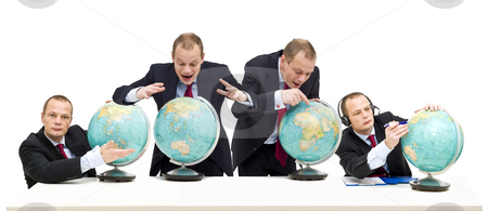 Exploring international markets stock photo, Conceptual image of discovering the potential of global business and gaining confidence in it. by Corepics VOF
