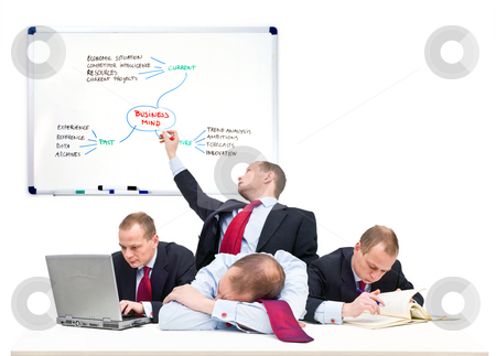 Single person business team stock photo, Conceptual image of a one-man business team, representative of being self employed by Corepics VOF