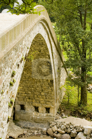 Old Bridge  stock photo, Old stone bridge at north east Turkey by Kobby Dagan