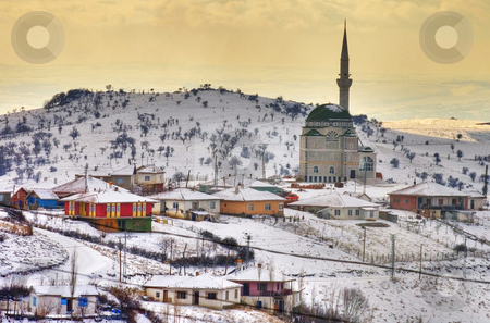 Turkish village stock photo, Turkish village near Ankara at winter time by Kobby Dagan