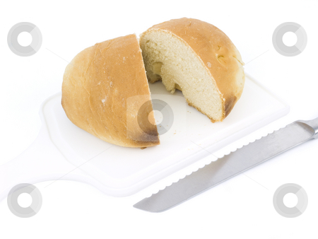 Sliced Bread Loaf stock photo, Sliced Bread Loaf on a White Background by John Teeter