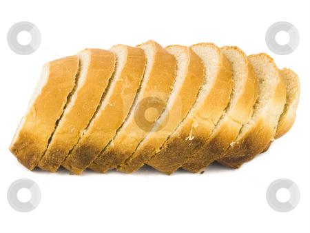 Fresh sliced Bread stock photo, Fresh sliced Bread on a white background by John Teeter