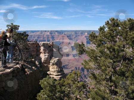 Grand Canyon, South Rim stock photo, This photo shows the famous Grand Canyon, South Rim, on a beautiful day in April. by Ray Carpenter
