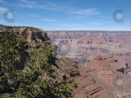 Grand Canyon, South Rim stock photo, This photo shows the famous Grand Canyon. South Rim, on a beautiful day in April. by Ray Carpenter