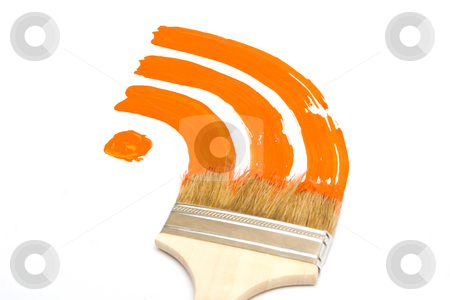 Painted RSS feed logo stock photo, Painted RSS feed logo by Andrey Butenko