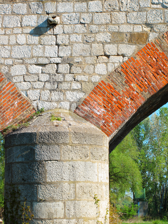 Bridge, detail stock photo, Old stone railroad bridge by Juraj Kovacik