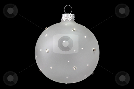 Chrismas tree decoration stock photo, Christmas tree decoration ball isolated on black background by Birgit Reitz-Hofmann