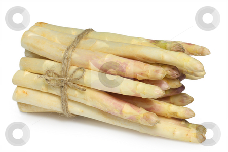 Asparagus stock photo, Fresh asparagus on bright background by Birgit Reitz-Hofmann