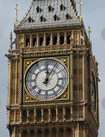 Close up of the clock face of Big Ben, London UK. stock photo, Close up of the clock face of Big Ben, London UK. by Stephen Rees