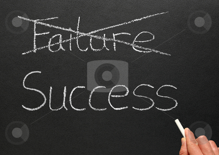 Crossing out failure and writing success. stock photo, Crossing out failure and writing success. by Stephen Rees