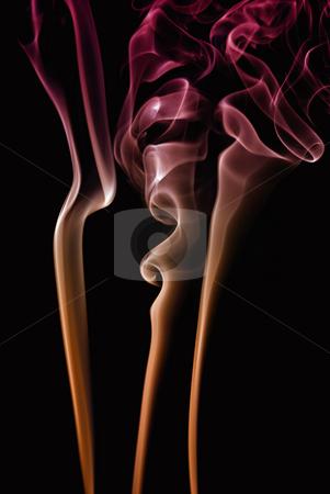 Smoke stock photo, Abstract colored smoke on a black background by Rui Vale de Sousa
