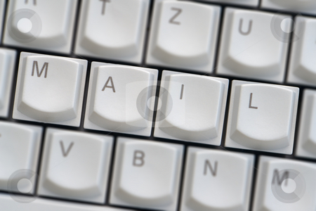Keyboard: Mail stock photo, Keyboard: Mail by Wolfgang Heidasch