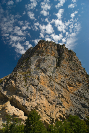 Fels in Castellane, Frankreich - Rock in Castellane, France stock photo, Castellane ist eine Gemeinde im franz?sischen D?partement Alpes-de-Haute-Provence, 724 m ?ber dem Meer. - Castellane is a commune in the Alpes-de-Haute-Provence department in southeastern France. by Wolfgang Heidasch