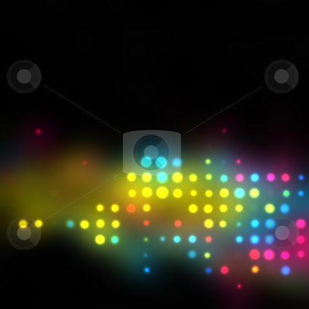 Glowing Halftone Dots Texture stock photo, Glowing halftone dots in rows. A funky and modern looking background texture. by Todd Arena