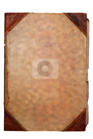 Old paper stock photo, Old paper book cover with space for text or image by Gjermund Alsos