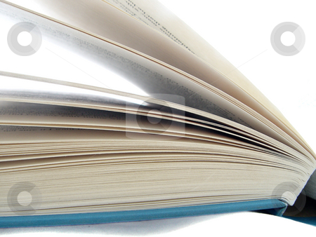 Book pages on White stock photo,  by Kirsty Pargeter